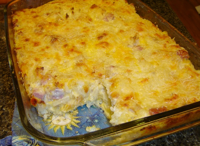 Cheesy Ham and Hash Brown Casserole | In the Kitchen with KP...